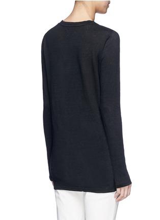 Back View - Click To Enlarge - Isabel Marant Étoile - 'Karon' linen long sleeve T-shirt