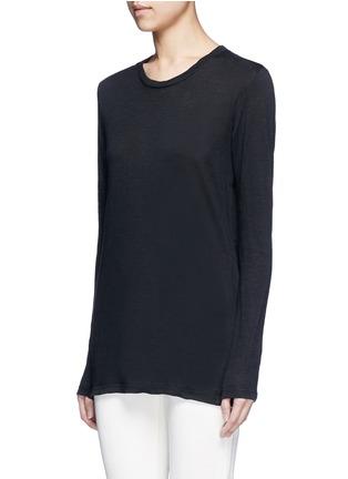 Front View - Click To Enlarge - Isabel Marant Étoile - 'Karon' linen long sleeve T-shirt
