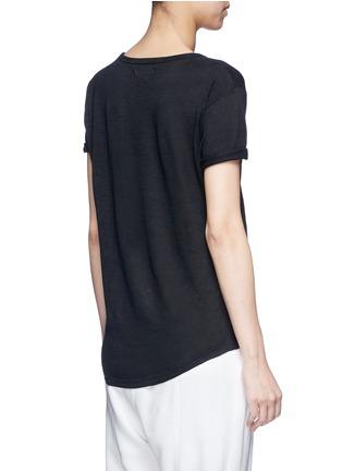 Back View - Click To Enlarge - ISABEL MARANT ÉTOILE - 'Koldi Marant' logo print linen T-shirt