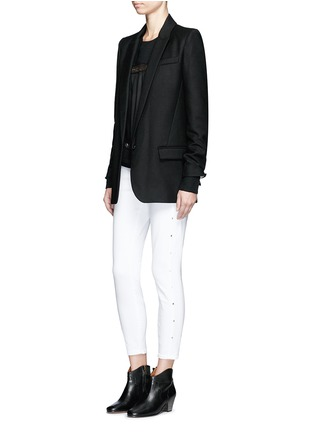 Figure View - Click To Enlarge - Isabel Marant Étoile - 'Igor' textured wool blend blazer