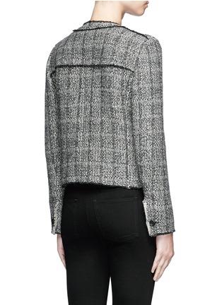 Back View - Click To Enlarge - Isabel Marant Étoile - 'Laura' stripe frayed edge tweed jacket