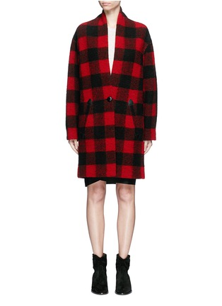 Main View - Click To Enlarge - ISABEL MARANT ÉTOILE - 'Gabrie' check plaid bouclé coat