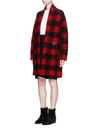 Figure View - Click To Enlarge - ISABEL MARANT ÉTOILE - 'Gabrie' check plaid bouclé coat