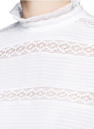Detail View - Click To Enlarge - Isabel Marant Étoile - 'Ria' blouson sleeve lace insert blouse