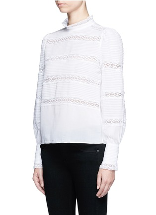 Front View - Click To Enlarge - Isabel Marant Étoile - 'Ria' blouson sleeve lace insert blouse