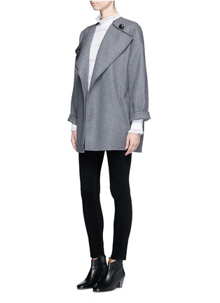 Figure View - Click To Enlarge - Isabel Marant Étoile - 'Ria' blouson sleeve lace insert blouse