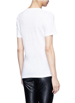 Back View - Click To Enlarge - Isabel Marant Étoile - 'Kranger' V-neck linen T-shirt