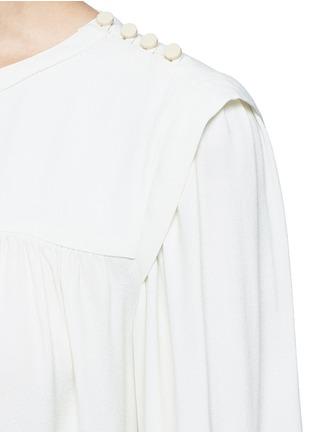 Detail View - Click To Enlarge - Isabel Marant Étoile - 'Nathael' rouleau loop button shoulder top
