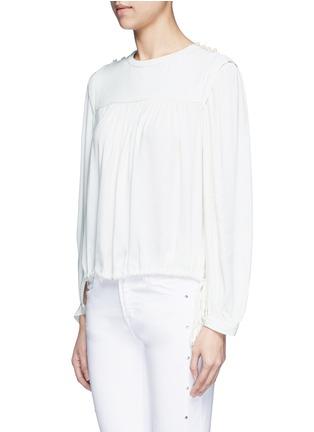 Front View - Click To Enlarge - Isabel Marant Étoile - 'Nathael' rouleau loop button shoulder top