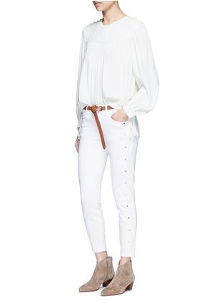 Figure View - Click To Enlarge - Isabel Marant Étoile - 'Nathael' rouleau loop button shoulder top