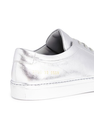 Detail View - Click To Enlarge - COMMON PROJECTS - 'Original Achilles' metallic leather sneakers