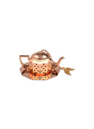 Main View - Click To Enlarge - Fortnum & Mason - Rose gold-plated golden leaf tea infuser