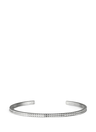 Main View - Click To Enlarge - Le Gramme - 'Guilloché Le 9 Grammes' stud sterling silver cuff
