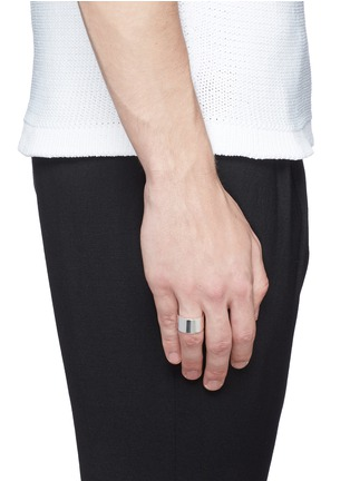 Figure View - Click To Enlarge - LE GRAMME - 'Le 19 Grammes' polished sterling silver ring