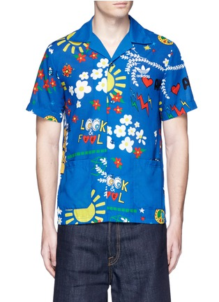 Main View - Click To Enlarge - adidas By Pharrell Williams - 'Doodle' print shirt