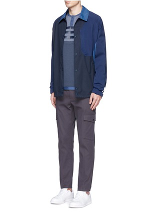 Figure View - Click To Enlarge - adidas by White Mountaineering - Patchwork bench jacket