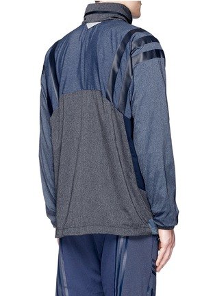 Back View - Click To Enlarge - Adidas By White Mountaineering - Patchwork windbreaker jacket