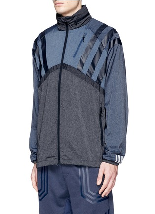 Front View - Click To Enlarge - Adidas By White Mountaineering - Patchwork windbreaker jacket