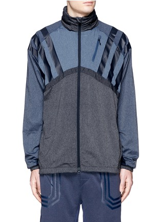 Main View - Click To Enlarge - Adidas By White Mountaineering - Patchwork windbreaker jacket