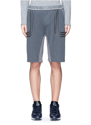 Main View - Click To Enlarge - Adidas By White Mountaineering - Patchwork sweat shorts
