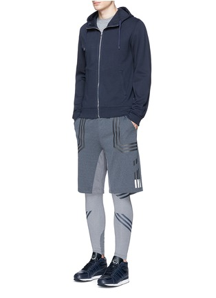 Figure View - Click To Enlarge - Adidas By White Mountaineering - Patchwork sweat shorts