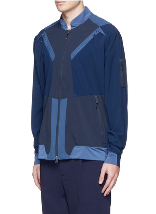 Front View - Click To Enlarge - Adidas By White Mountaineering - Patchwork track jacket