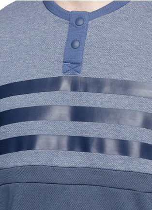 Detail View - Click To Enlarge - Adidas By White Mountaineering - Patchwork Henley shirt
