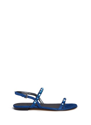 Main View - Click To Enlarge - Stuart Weitzman - 'Trail Mix' jewelled suede sandals