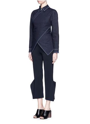 Figure View - Click To Enlarge - Stella McCartney - 'Irene' asymmetric wrap front denim shirt