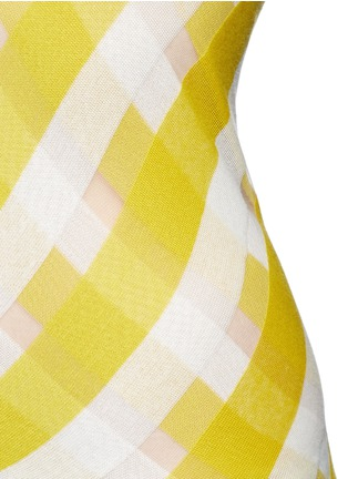Detail View - Click To Enlarge - Stella McCartney - 'Transparent Checks' crisscross stripe racerback top