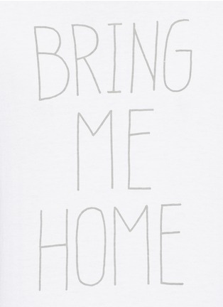 Detail View - Click To Enlarge - nanamica - 'BRING ME HOME' print COOLMAX® jersey T-shirt