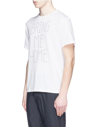 Front View - Click To Enlarge - nanamica - 'BRING ME HOME' print COOLMAX® jersey T-shirt