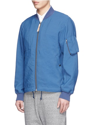 Front View - Click To Enlarge - nanamica - Satin backing NA-1 bomber jacket
