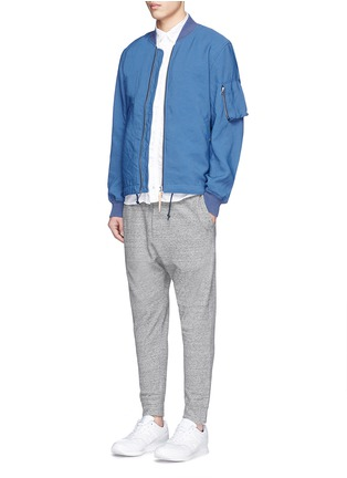 Figure View - Click To Enlarge - nanamica - Satin backing NA-1 bomber jacket