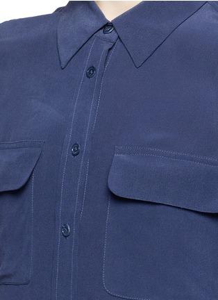 Detail View - Click To Enlarge - Equipment - 'Slim Signature' short sleeve shirt dress