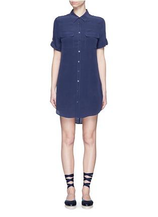 Main View - Click To Enlarge - Equipment - 'Slim Signature' short sleeve shirt dress