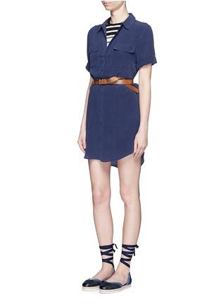 Figure View - Click To Enlarge - Equipment - 'Slim Signature' short sleeve shirt dress