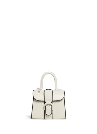 Main View - Click To Enlarge - Delvaux - 'Brilliant Mini Illusion' piped leather bag