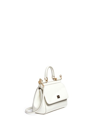 Front View - Click To Enlarge - Dolce & Gabbana - 'Miss Sicily' mini Dauphine leather satchel