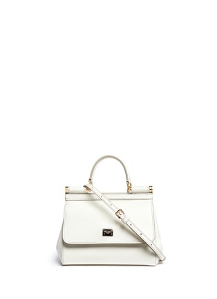 Main View - Click To Enlarge - Dolce & Gabbana - 'Miss Sicily' mini Dauphine leather satchel