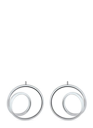Main View - Click To Enlarge - Maison Margiela Fine Jewellery - 'Anamorphose' 18k white gold small twisted earrings