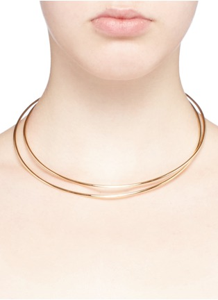 Detail View - Click To Enlarge - Maison Margiela Fine Jewellery - 'Anamorphose' 18k yellow gold twisted necklace