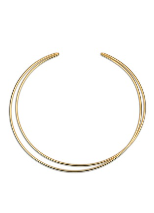 Main View - Click To Enlarge - Maison Margiela Fine Jewellery - 'Anamorphose' 18k yellow gold twisted necklace