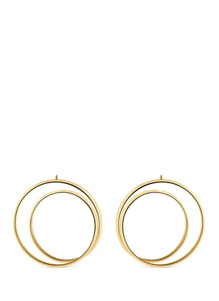 Main View - Click To Enlarge - MAISON MARGIELA FINE JEWELLERY - 'Anamorphose' 18k yellow gold large twisted earrings