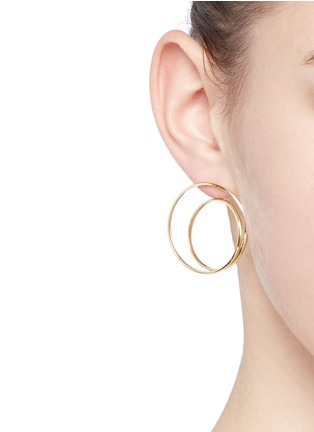 Figure View - Click To Enlarge - MAISON MARGIELA FINE JEWELLERY - 'Anamorphose' 18k yellow gold large twisted earrings