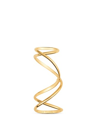 Main View - Click To Enlarge - MAISON MARGIELA FINE JEWELLERY - 'Anamorphose' 18k yellow gold twisted long ring