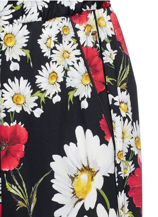 Detail View - Click To Enlarge - Dolce & Gabbana - Mix daisy poppy print silk pyjama pants