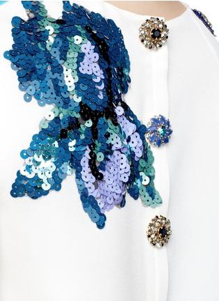 Detail View - Click To Enlarge - Dolce & Gabbana - 'Venezia' postcard print embroidery silk dress