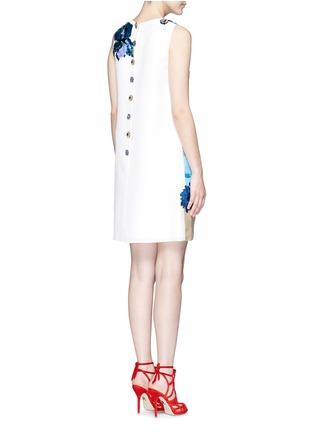 Back View - Click To Enlarge - Dolce & Gabbana - 'Venezia' postcard print embroidery silk dress