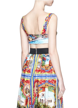 Back View - Click To Enlarge - Dolce & Gabbana - Postcard print cropped bra top